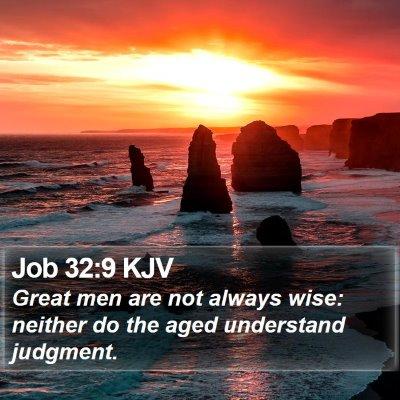 Job 32:9 KJV Bible Verse Image