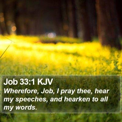 Job 33:1 KJV Bible Verse Image
