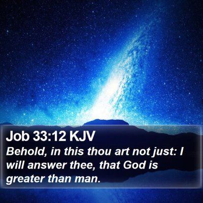 Job 33:12 KJV Bible Verse Image