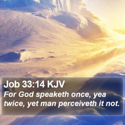Job 33:14 KJV Bible Verse Image