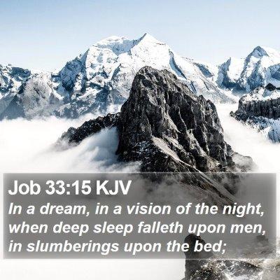 Job 33:15 KJV Bible Verse Image