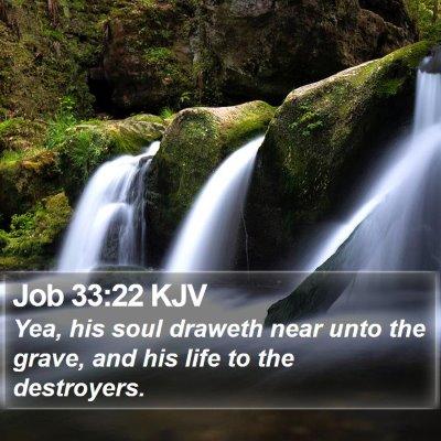 Job 33:22 KJV Bible Verse Image