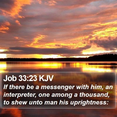 Job 33:23 KJV Bible Verse Image