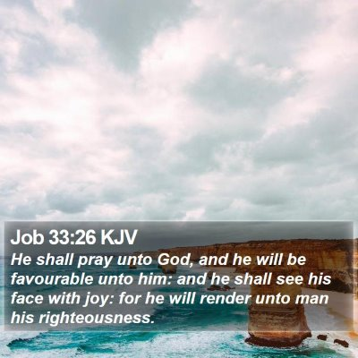 Job 33:26 KJV Bible Verse Image