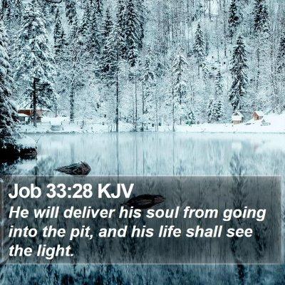 Job 33:28 KJV Bible Verse Image