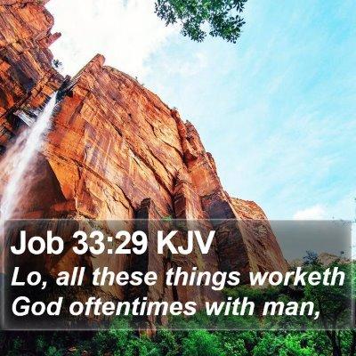 Job 33:29 KJV Bible Verse Image