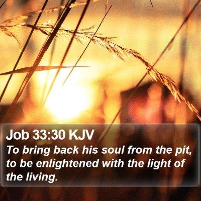 Job 33:30 KJV Bible Verse Image