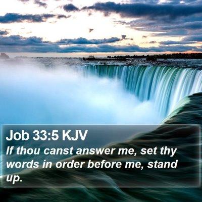 Job 33:5 KJV Bible Verse Image