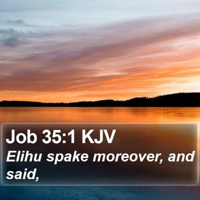 Job 35:1 KJV Bible Verse Image