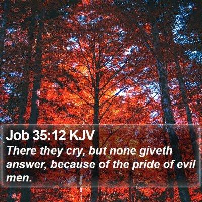 Job 35:12 KJV Bible Verse Image