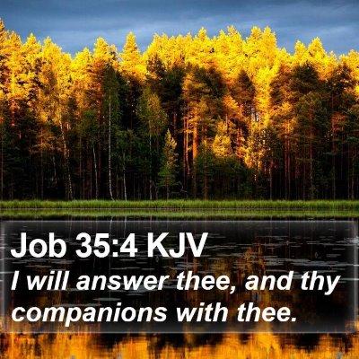 Job 35:4 KJV Bible Verse Image