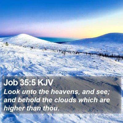 Job 35:5 KJV Bible Verse Image