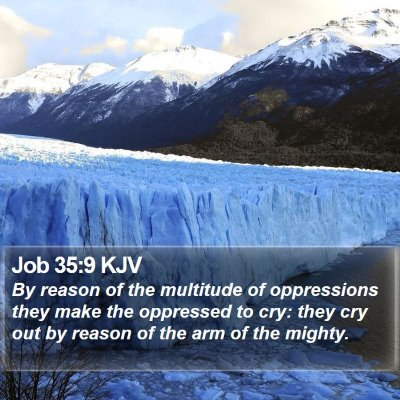 Job 35:9 KJV Bible Verse Image