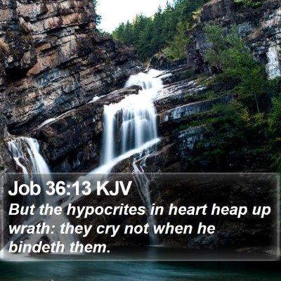 Job 36:13 KJV Bible Verse Image