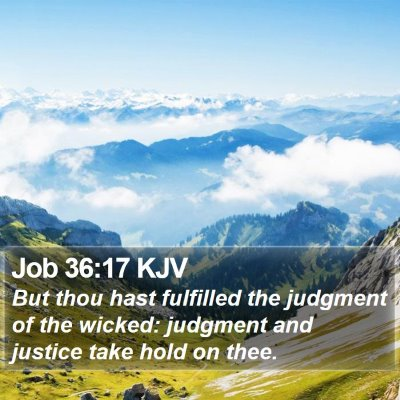 Job 36:17 KJV Bible Verse Image