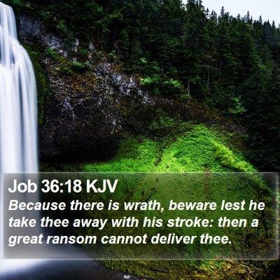 Job 36:18 KJV Bible Verse Image