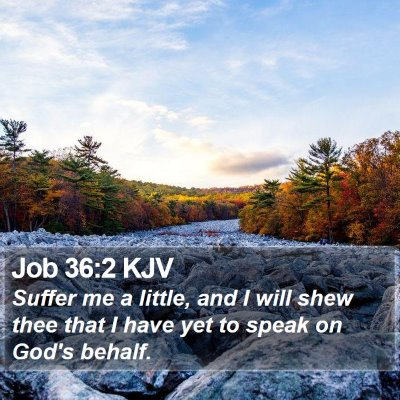 Job 36:2 KJV Bible Verse Image