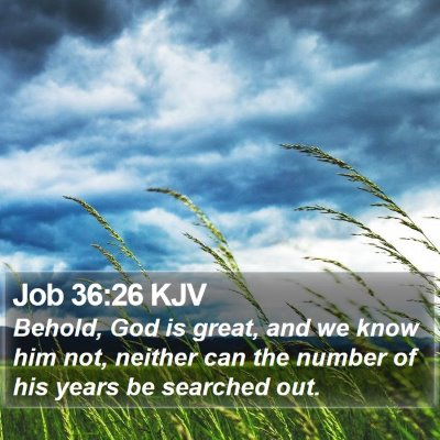 Job 36:26 KJV Bible Verse Image