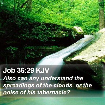 Job 36:29 KJV Bible Verse Image