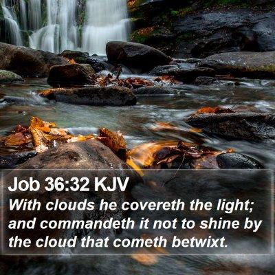 Job 36:32 KJV Bible Verse Image