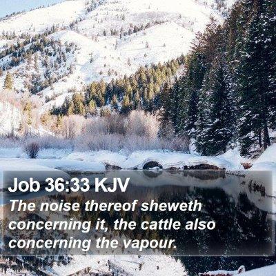 Job 36:33 KJV Bible Verse Image