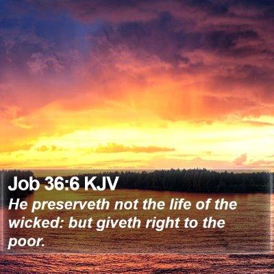 Job 36:6 KJV Bible Verse Image