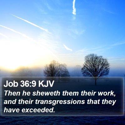 Job 36:9 KJV Bible Verse Image