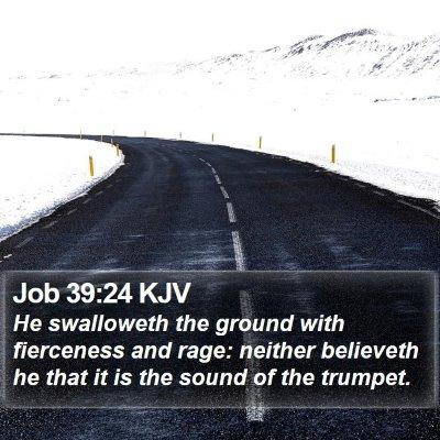 Job 39:24 KJV Bible Verse Image