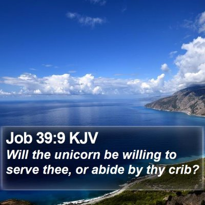 Job 39:9 KJV Bible Verse Image
