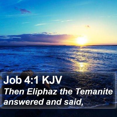 Job 4:1 KJV Bible Verse Image