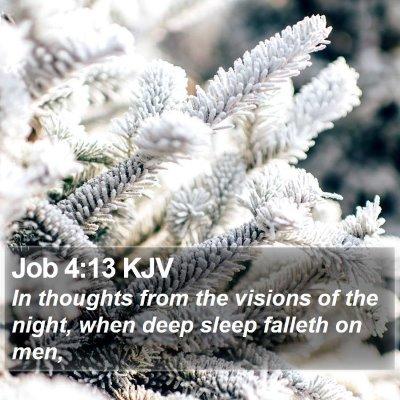 Job 4:13 KJV Bible Verse Image