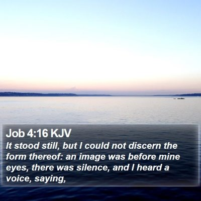 Job 4:16 KJV Bible Verse Image