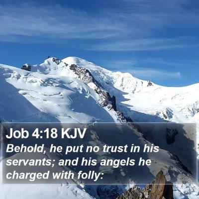 Job 4:18 KJV Bible Verse Image