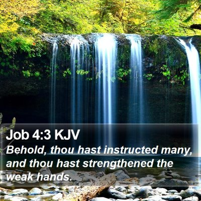 Job 4:3 KJV Bible Verse Image
