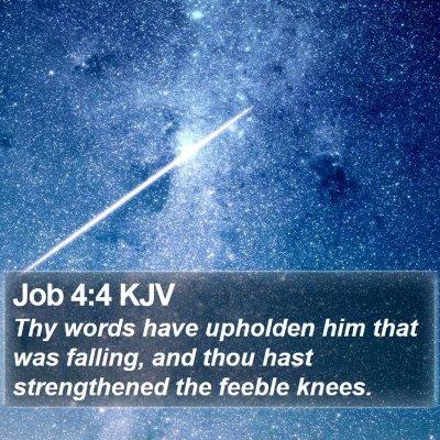 Job 4:4 KJV Bible Verse Image