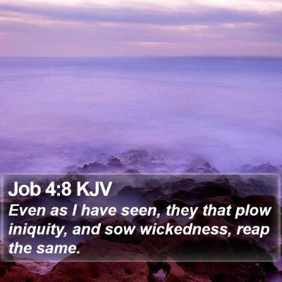 Job 4:8 KJV Bible Verse Image