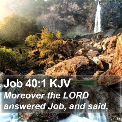 Job 40:1 KJV Bible Verse Image