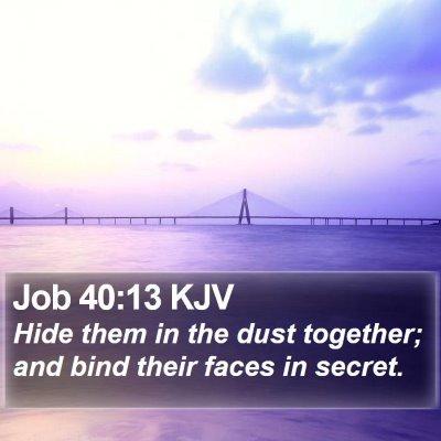 Job 40:13 KJV Bible Verse Image