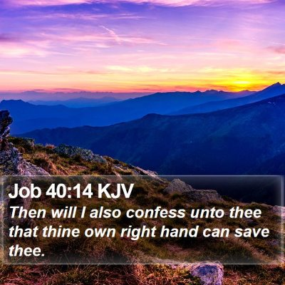 Job 40:14 KJV Bible Verse Image