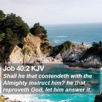 Job 40:2 KJV Bible Verse Image