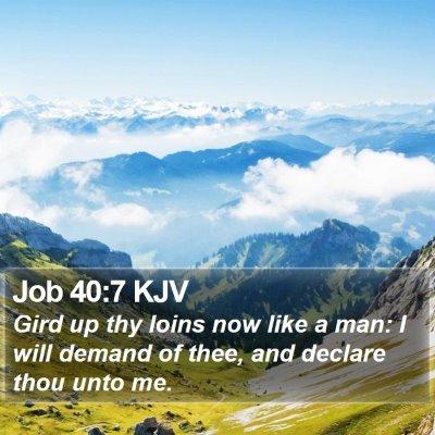 Job 40:7 KJV Bible Verse Image