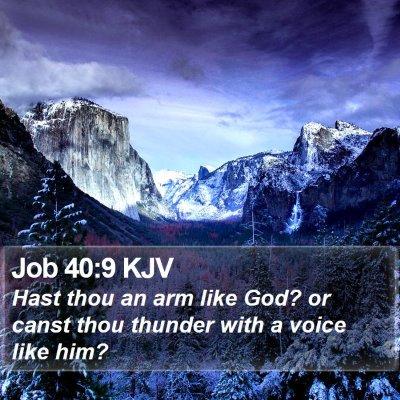 Job 40:9 KJV Bible Verse Image
