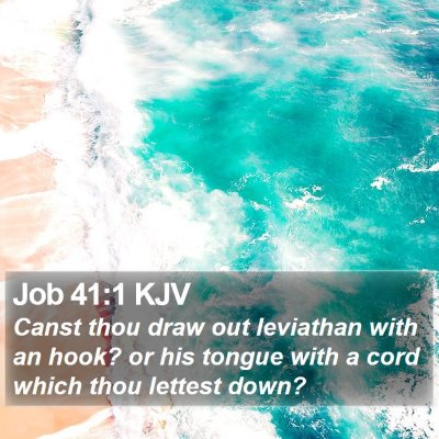 Job 41:1 KJV Bible Verse Image