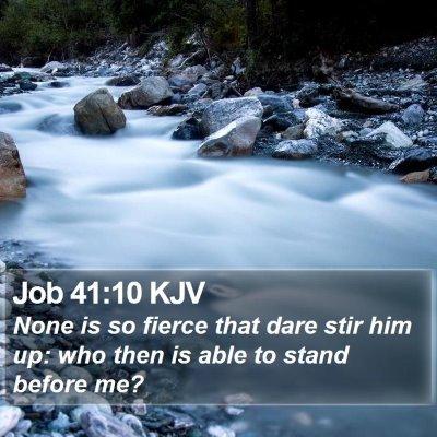 Job 41:10 KJV Bible Verse Image