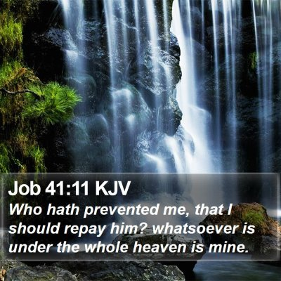 Job 41:11 KJV Bible Verse Image