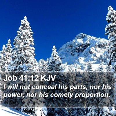 Job 41:12 KJV Bible Verse Image