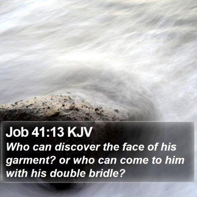Job 41:13 KJV Bible Verse Image
