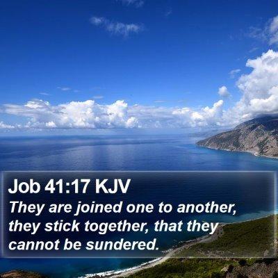 Job 41:17 KJV Bible Verse Image