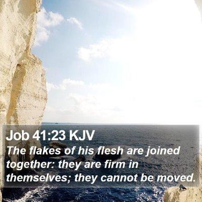 Job 41:23 KJV Bible Verse Image