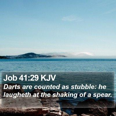 Job 41:29 KJV Bible Verse Image